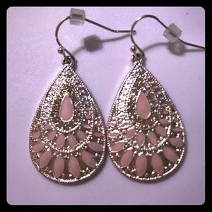 Jewelry - Cute silver and pink earrings!